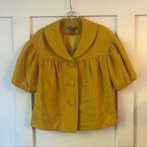 Kenar Marigold Yellow Short Sleeve Tweed Jacket